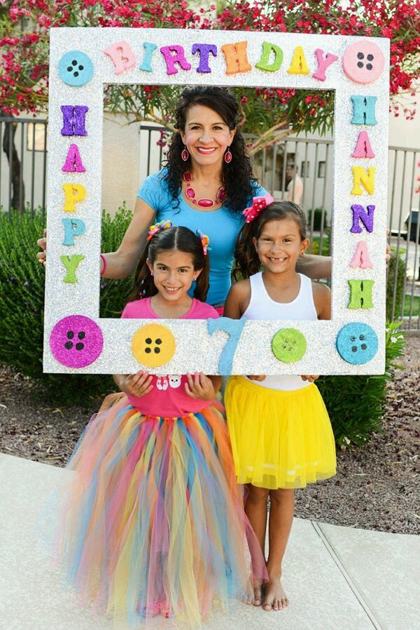 Photo Frame Ideas Girls Double Digit Water Birthday
