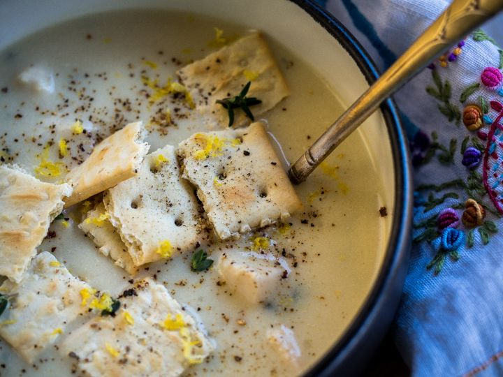 Chicken Mull - chicken stewed in milk, lemon rind, & herbs