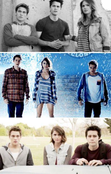 Liam, Malia, Stiles