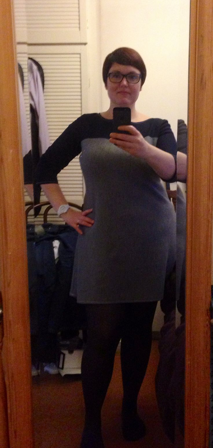 Coco dress in grey and navy....love it