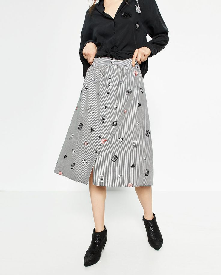 PLEATED SEMI-LONG SKIRT-Midi-SKIRTS-WOMAN | ZARA United States