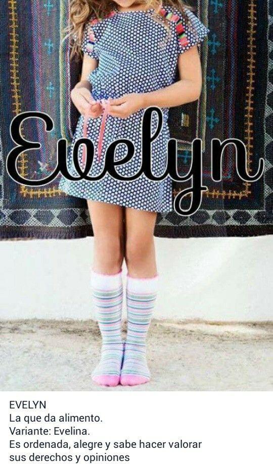 Nombres de niñas, significado de Evelyn