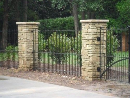 Best stone pillars images on pinterest front gates