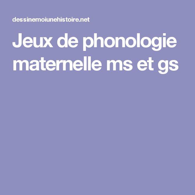 Jeux de phonologie maternelle ms et gs
