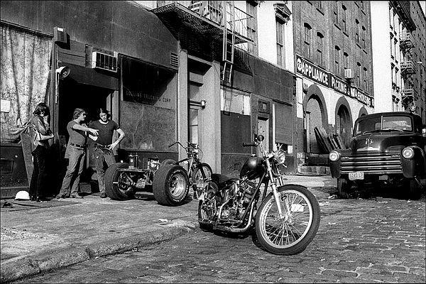 Motorcycle shop in Tribeca 1970's