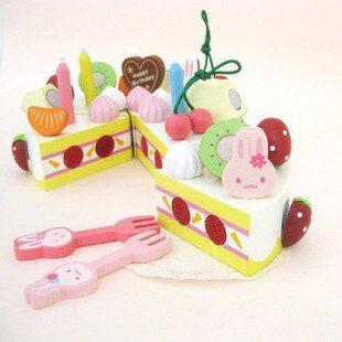 Кэндис го мать сад деревянная игрушка кролик фрукты вырезать торт клубничный торт играть дома кухня еда рождения рождественский подарок набор