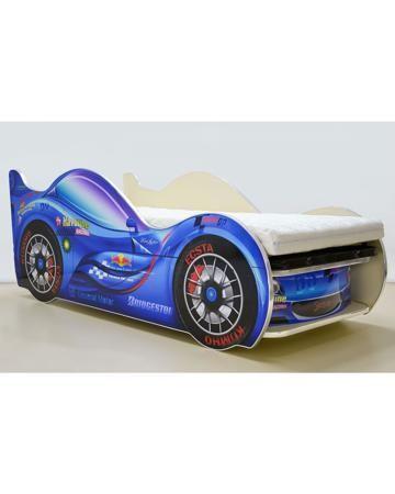 Vivera СпортКар 2 70х150 синяя + матрас  — 15000р. ------------- Кровать СпортКар 2 70х150 синяя   матрас Vivera, возраст - от 2 лет, габариты - 176х75х66 см, вес - 45 кг, материал - ЛДСП, страна - Россия