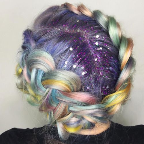 A LIFE LESS ORDINARY - limecrime:   Glitter Roots + Unicorn Braids ✨...