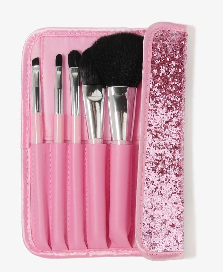 Glittered Case Cosmetic Brush Set | FOREVER21 - 1021841032