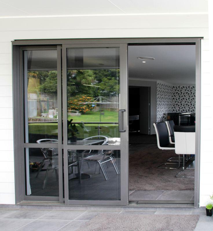 Indoor/outdoor flow with sliding doors