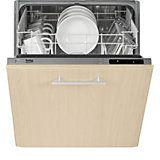 Beko DIS15010 Integrated Slimline Dishwasher, White | Departments | DIY at B&Q