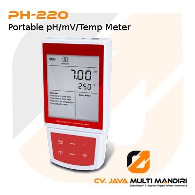 Portable pH/mV/Temp Meter PH-220
