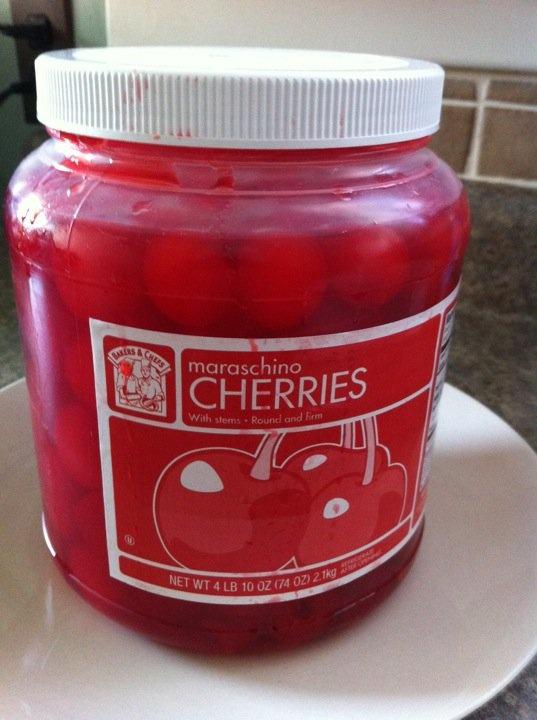 Drunkin Cherries...Cherries soaked in Bourbon,,