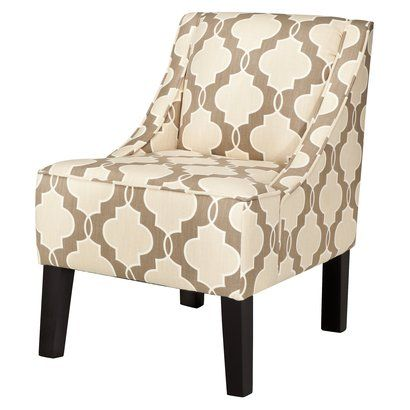 target swoop upholstered accent chair in luca geometric stone find this pin and more on living room