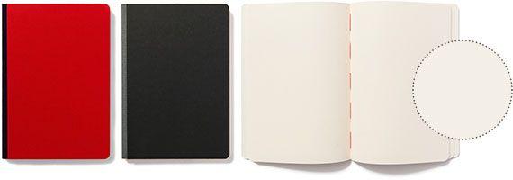 Quaderno con pagine bianche in carta uso mano di qualità superiore. Pura cellulosa a fibre lunghe per una perfetta tenuta degli inchiostri. Legatura bodoniana in carta editoriale anti-impronta, dorso in tessuto e cucitura a filo refe rosso. collezione: scrittura dimensioni: 15·21 cm copertina: rigida rilegatura: dorso in tela tipo di pagine: bianche n. di pagine: 128 grammatura: 85 gr colori: rosso, nero