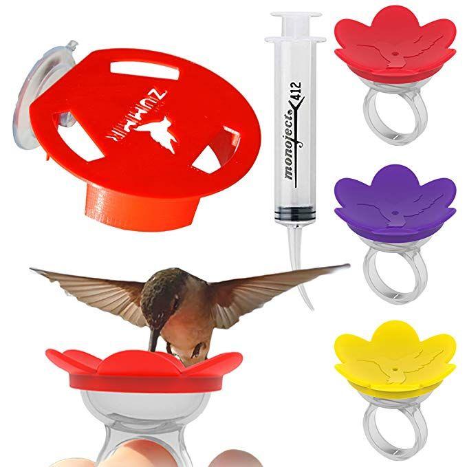 Zummr Hummingbird Ring Feeder Trainer Starter Set 3 Pack Starter Kit Hummingbird Feeder