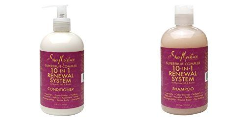 Shea Moisture Superfruit Complex 10 in 1 Renewal System with Marula Oil and Biotin Shampoo and Conditioner Set 12 Oz *** Want additional info? Click on the image.