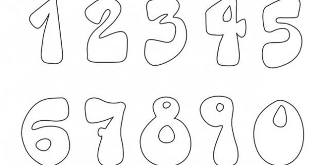 Los números. Para que los niños aprendan y coloreen