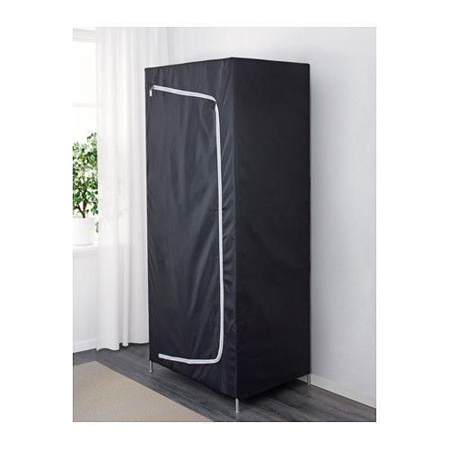 BREIM Garderob - svart - IKEA