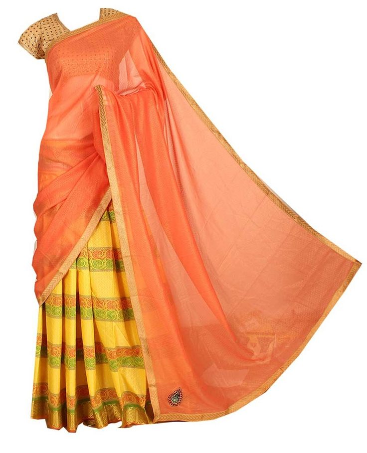Art Silk Half Sarees ASHS049 - Art Silk Half Sarees - Art silk and fancy sarees