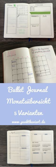 This is how you can design the Bullet Journal monthly overview
