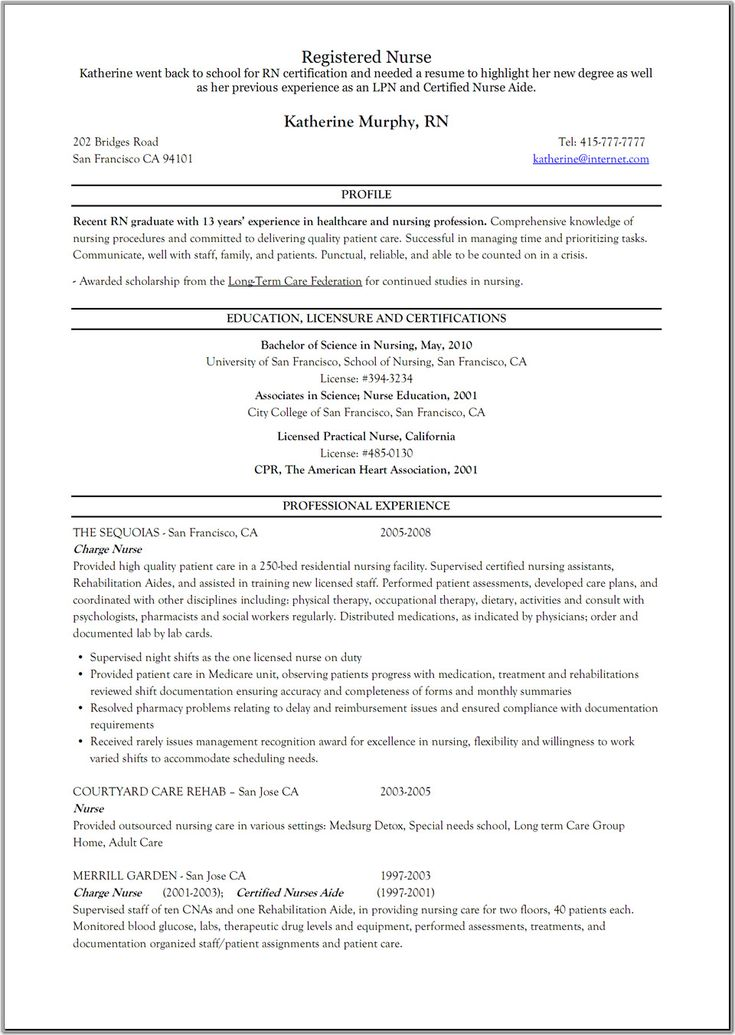 registered nurse resume examples resume format download pdf