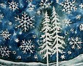 Crayon resist idea- winter