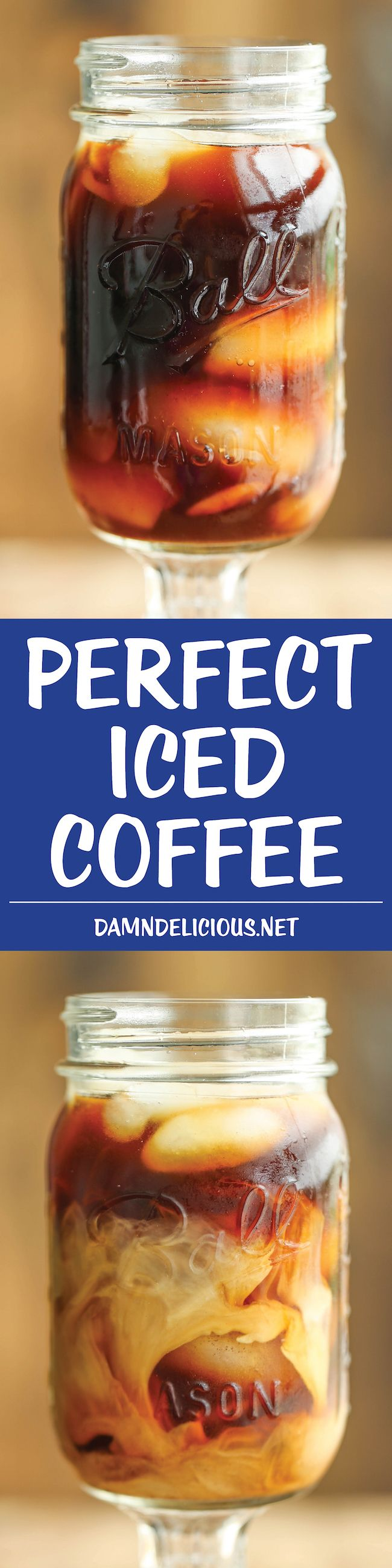 Perfect Iced Coffee - This recipe is quick, easy, budget-friendly, and tastes just like the gourmet coffee-shops, if not better!