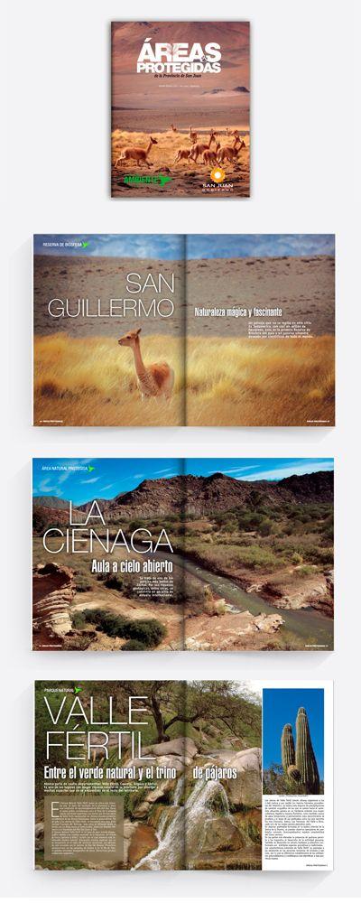 #editorial #DiseñoEditorial #GraphicDesign #Magazine #Revista Anual de la Secretaría de Ambiente de San Juan Argentina. Descripción de las areas protegidas de toda la provincia.