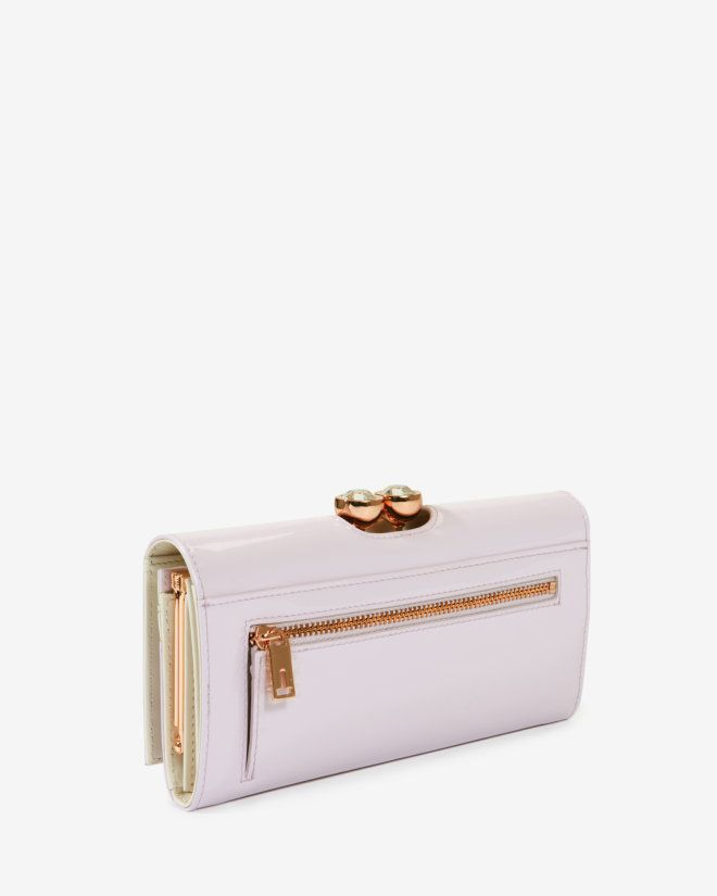 Leather crystal bobble matinee purse - Pale Pink   Accessories   Ted Baker UK