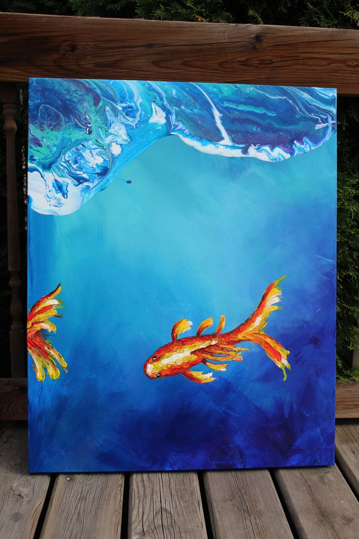 A personal favorite from my Etsy shop https://www.etsy.com/ca/listing/551201976/koi-fish