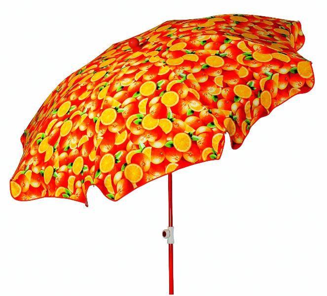 Schneider Sonnenschirm / Gartenschirm Rom rund, 200/8 Des.Orange