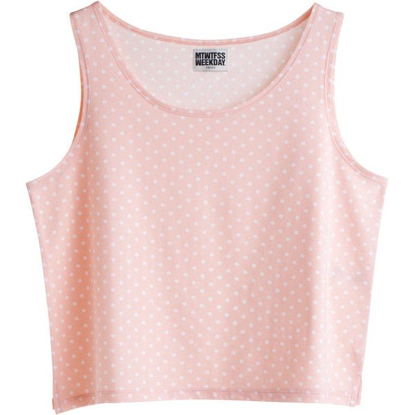 Standard Singlet Pink ❤ liked on Polyvore featuring tops, shirts, crop tops, tank tops, crop tank top, pink tank, mtwtfss weekday, crop shirts and pink shirt