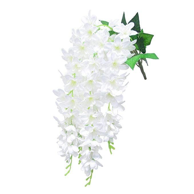 Dalamoda Cream White 2pcs Plumeria Silk Floral Spray Orchid Flower 27 Quot In Length Artificial S Artificial Silk Flowers Prom Flowers Bouquet Hanging Orchid