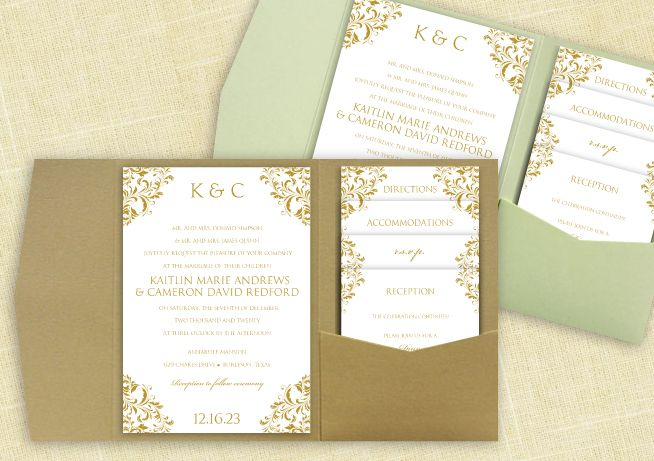 Cheap Wedding Pocket Invitations: 1000+ Images About DiY Pocket Wedding Invitation Templates