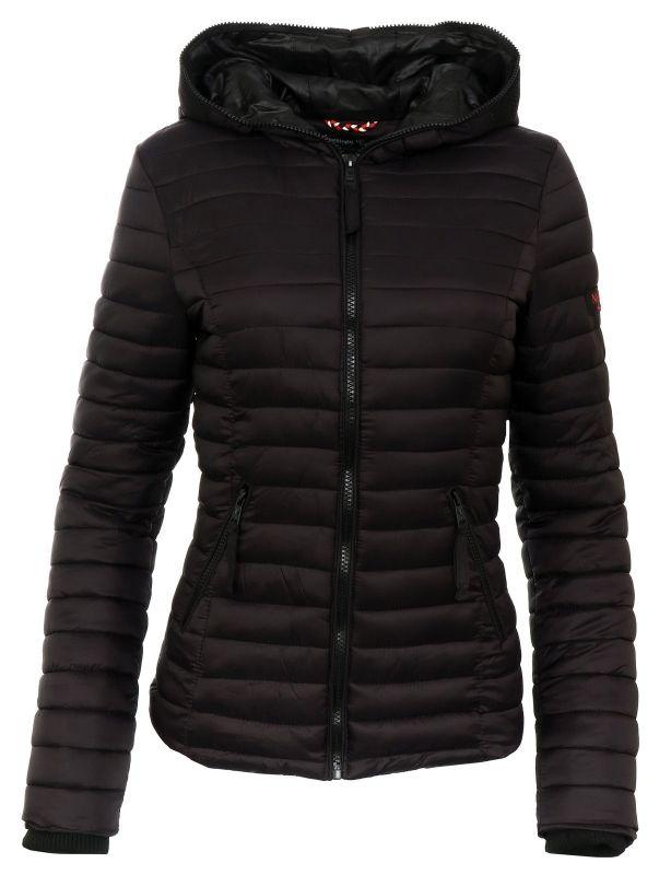Navahoo Kimuk dames gewatteerde jas voorjaar / winterjas zwart