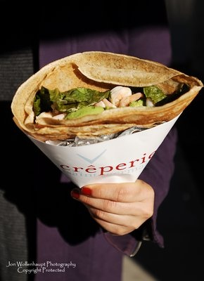 Creperie in San Francisc- street food vendor of sweet and savory crepes.