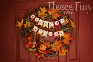 Printable Fall Decorations: The Welcome Fall Collection photo on www.fleecefun.com