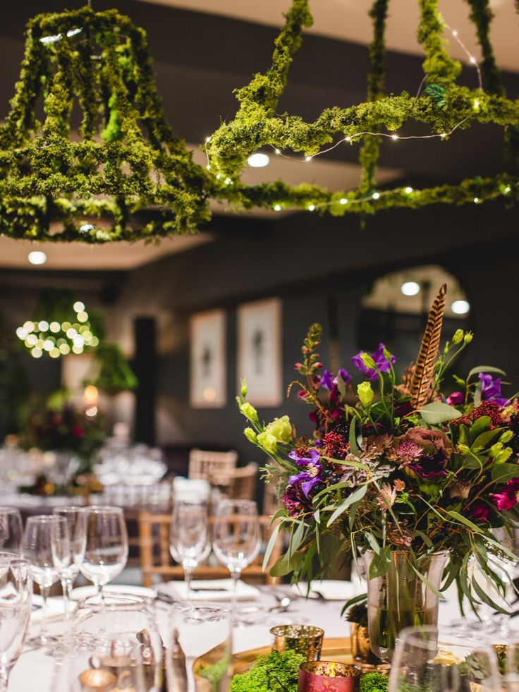 wedding decoration ideas south africa%0A A cosy winter wedding with burgundy and greenery theme