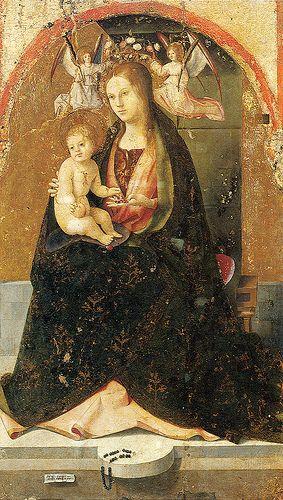 Madonna and Child by   Antonello da Messina, Museo Regionale Antonio di Giovanni de Antonio (1429 or 1430 - 1479) Messina, febbraio 1479)