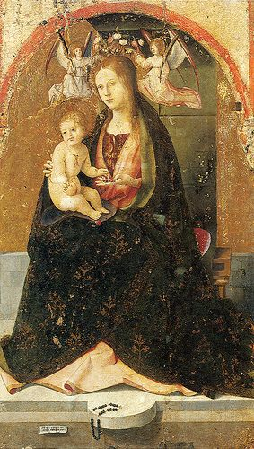 Madonna and Child by   Antonello da Messina, Museo Regionale Antonio di Giovanni de Antonio (1429 or 1430 - 1479) Messina, febbraio 1479)