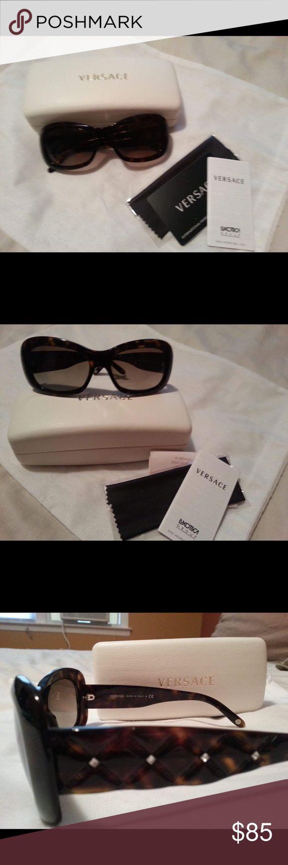 Versace Brand New Versace Sun Glasses in Brown Versace Accessories Glasses