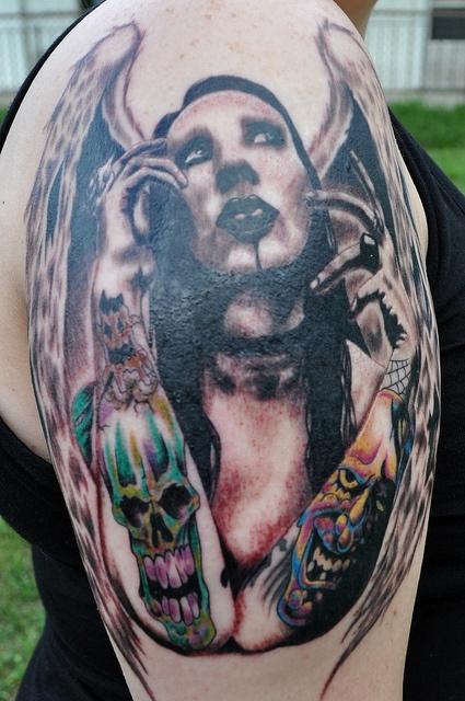 My Marilyn Manson Tattoo by BarbaraReyes, via Flickr
