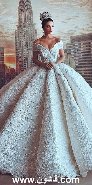 7e42e3730a76e 10 صور فساتين زفاف بقصات موضة 2018