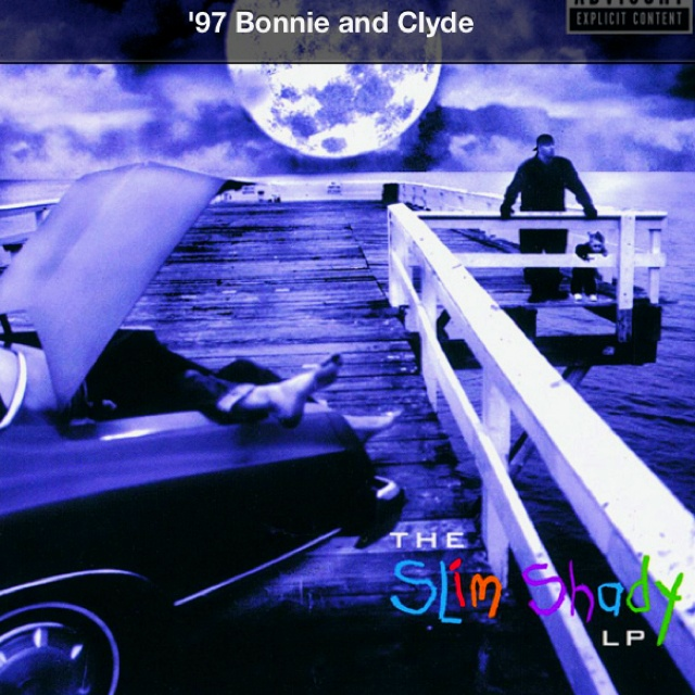 '97 Bonnie and Clyde, me and my daughter