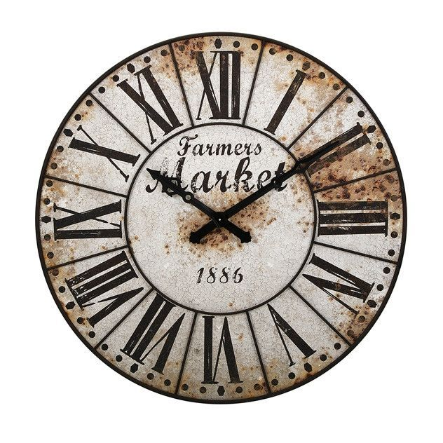 Best 25 oversized wall clocks ideas on pinterest Oversized metal wall clocks
