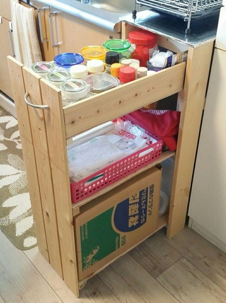 シンク横にスペースがある方必見!水切りかごが置けるスライド式収納!|LIMIA (リミア)