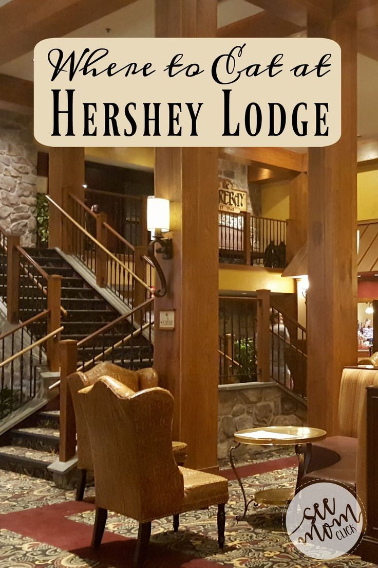 Visiting Hershey, PA and wondering where to eat at Hershey Lodge? There are 6 eateries and I'm breaking it down by meal (and snack options, too)!