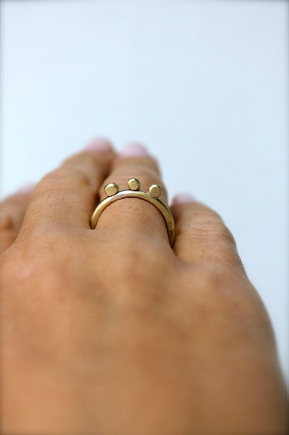 Greek Queen Ring Flat Bronze Sterling Silver Gift for Her Stackable Thin Minimal Engagement Ring