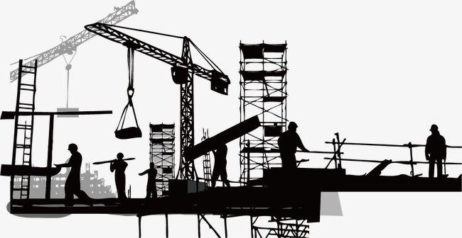 строительство силуэт, силуэт, здание, силуэт PNG и PSD-файл для бесплатной  загрузки | Civil engineering design, Building silhouette, Civil engineering  construction